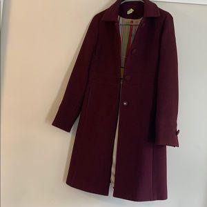 J Crew purple lady day coat